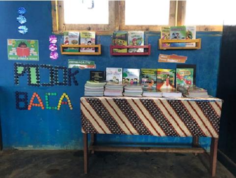 Harita Nickel menyediakan pojok baca bagi pendidikan desa kawasi
